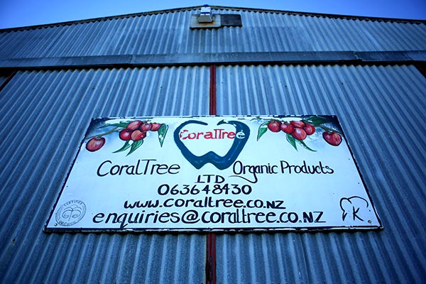 CoralTree Organics HQ old signage